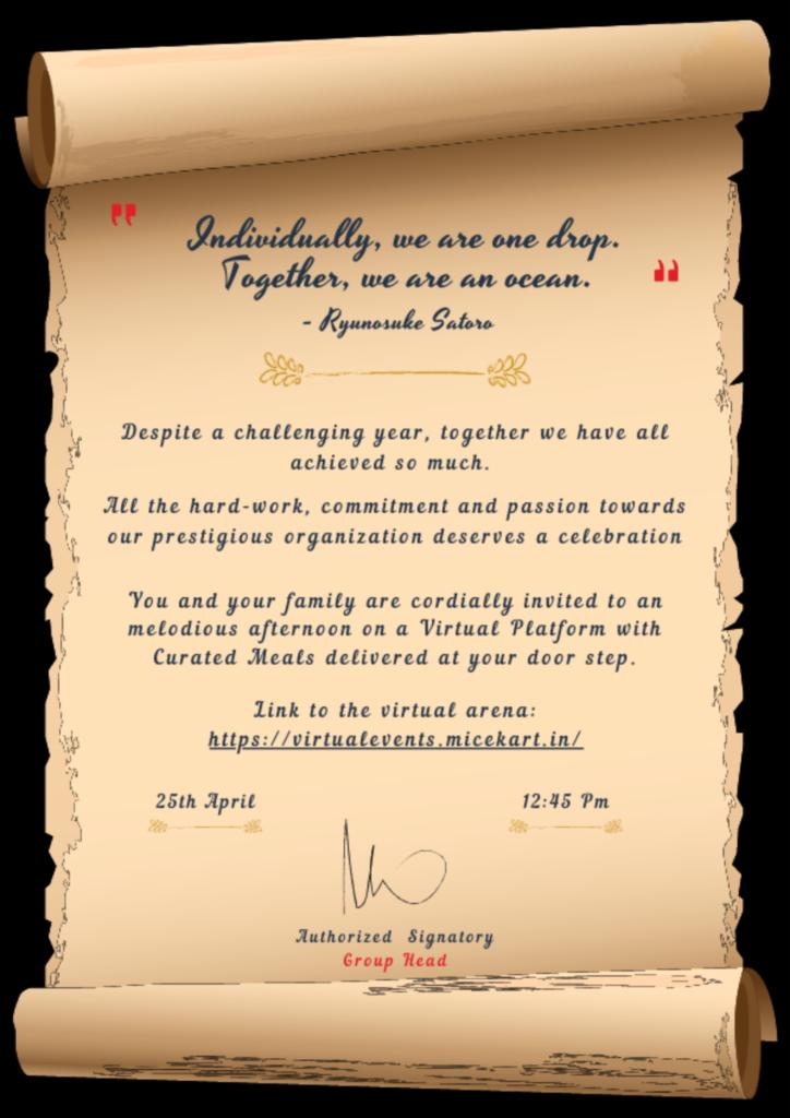 Virtual Event Digital Invite